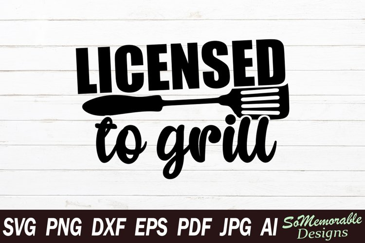 BBQ SVG cut file, BBQ svg design example image 1