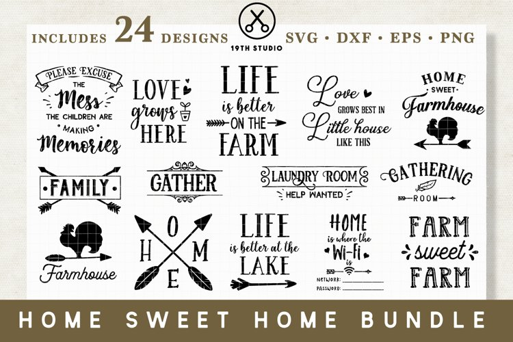 Home SVG Bundle - MB14 example image 1