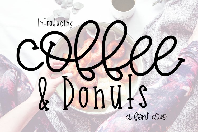 Coffee and Donuts a Font Duo example image 1