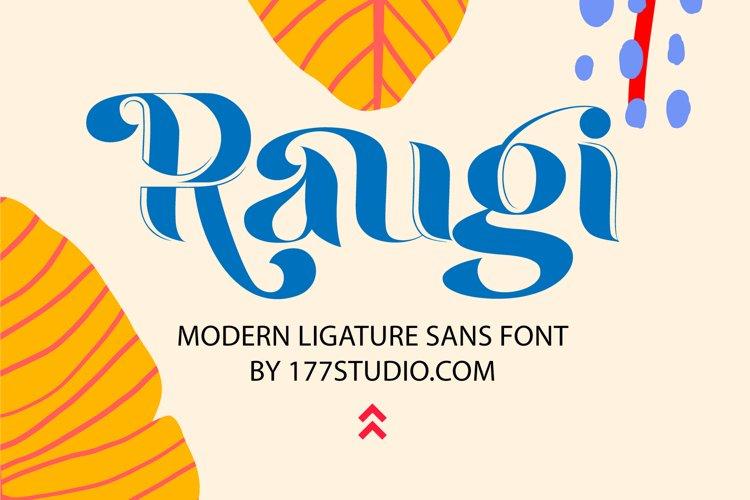 Raugi - Ligature Sans Serif Font example image 1