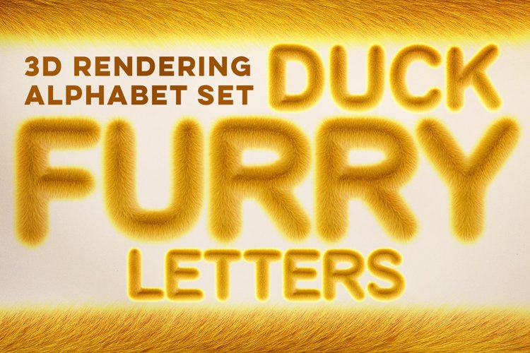 Duck 3D Furry Letters Pack example image 1