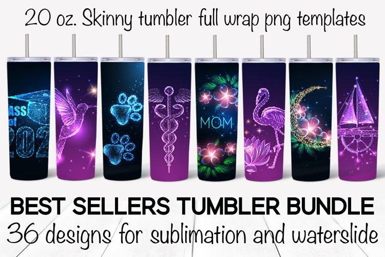 Best sellers tumbler bundle. Sublimation designs. Waterslide