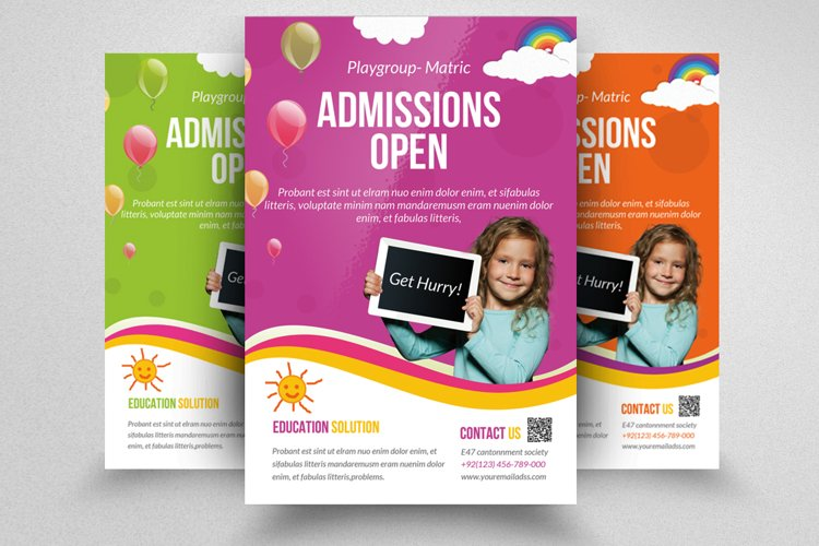 Admission Open Flyer Template example image 1