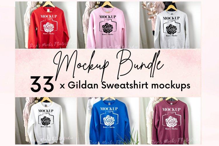 Gildan Sweatshirt Mockup Bundle - Gildan 18000 Mock Up example image 1