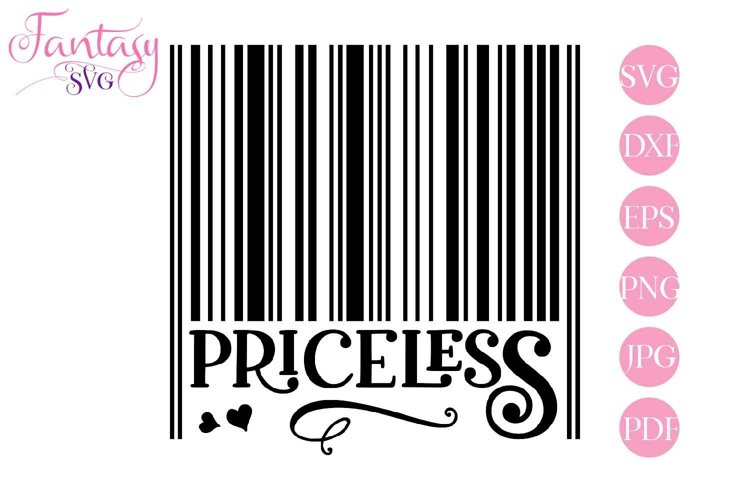 Barcode Priceless - Svg Cut Files example image 1