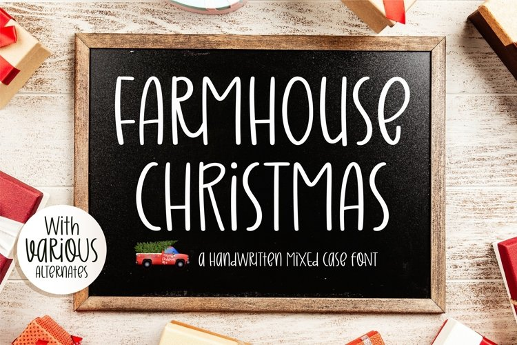 Farmhouse Christmas - A handwritten mixed case font example image 1