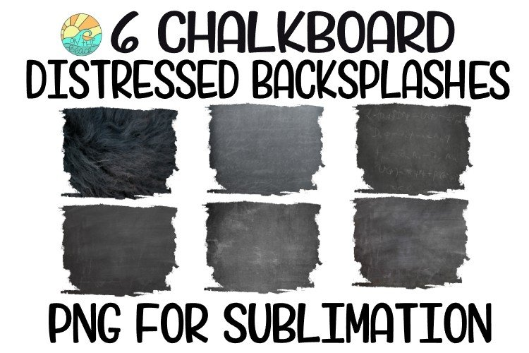 Chalkboard Sublimation Background PNG Bundle-6 Elements