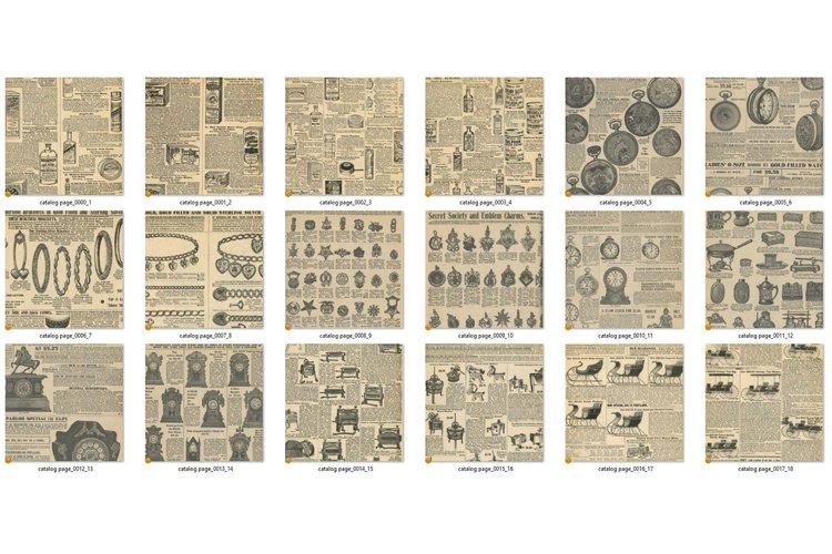 Antique Catalog Pages Digital Paper Ephemera example 1