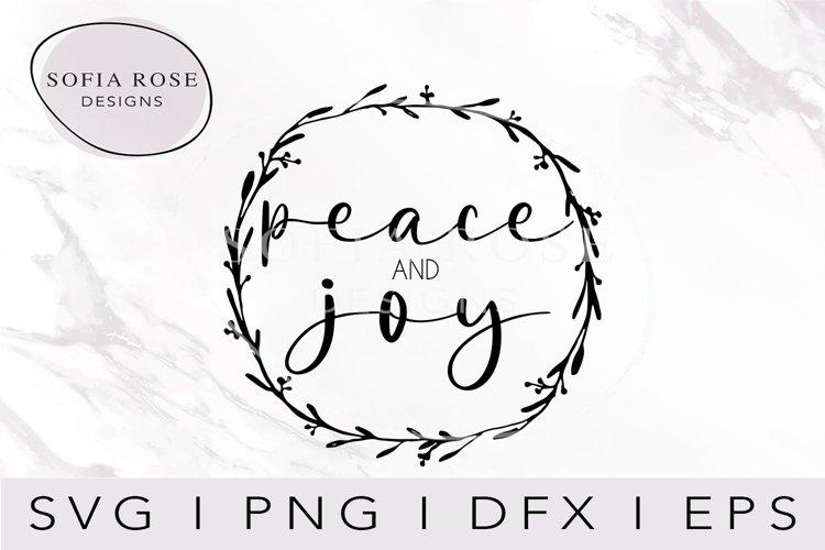 peace AND joySVG-Christmas SVG-Holiday SVG-Digital Cut File example image 1