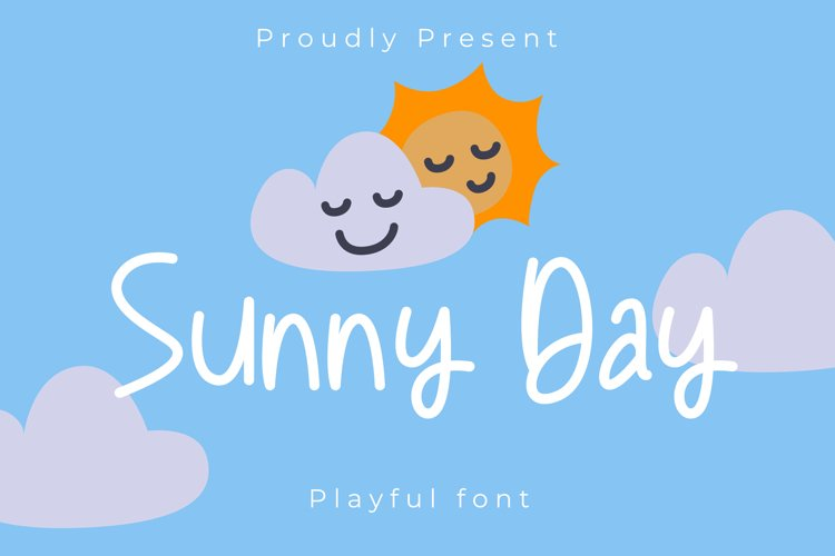Sunny day Playful font example image 1