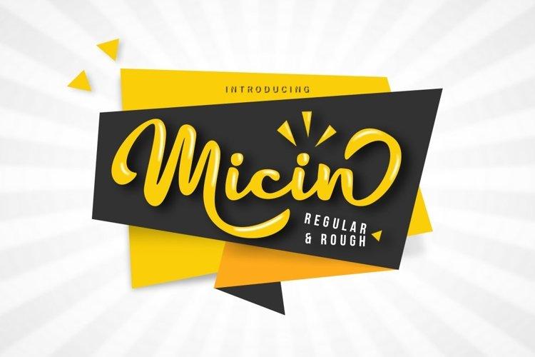 Web Font Micin Script example image 1
