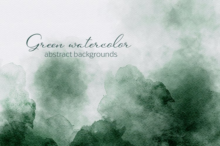 Green Watercolor Abstract Textures example image 1