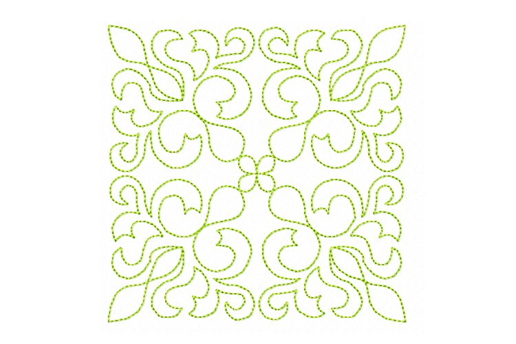 Quilt Block Stipple 13 - Machine Embroidery Design in 3 size example image 1