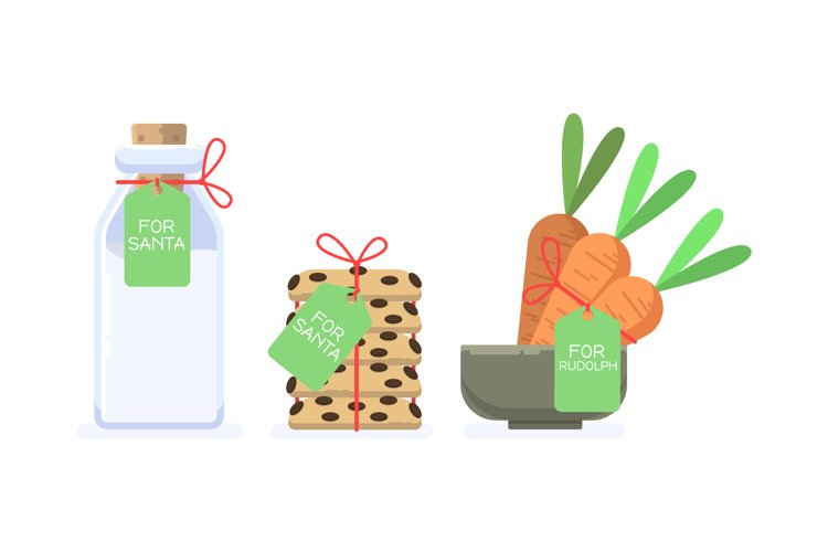 Cookies, Milk and Carrots Illustrations for Santa