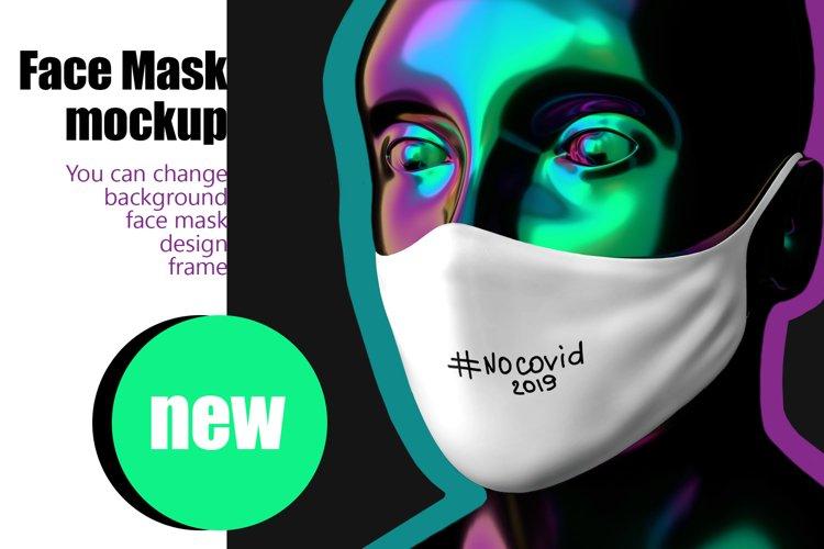 Stylish face mask mockup