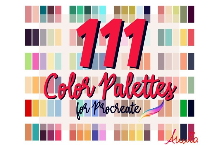 111 Color Palettes for Procreate 5/5x example image 1