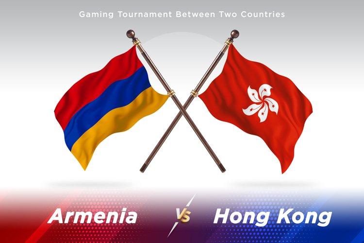 Armenia versus Hong Kong Two Flags example image 1