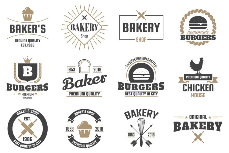 60 Vintage Logo Set example 6