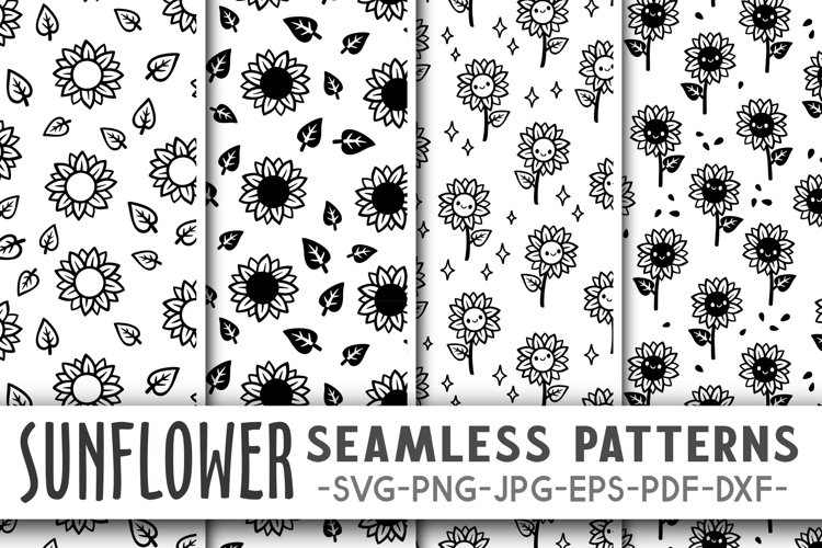Sunflower pattern svg Sunflower svg Sunflower digital paper