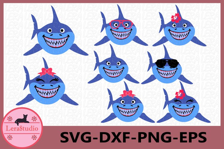 Shark Svg, Shark Sunglasses Svg, Shark Clipart, Beach Svg