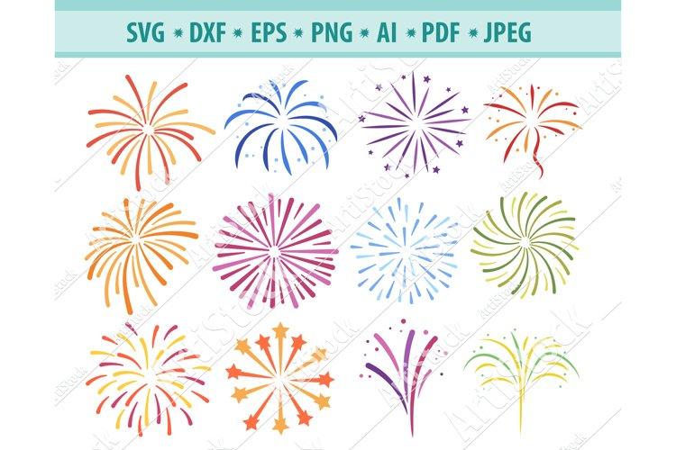 Fireworks Svg, Fireworks clipart, Firecracker Png, Eps, Dxf example image 1