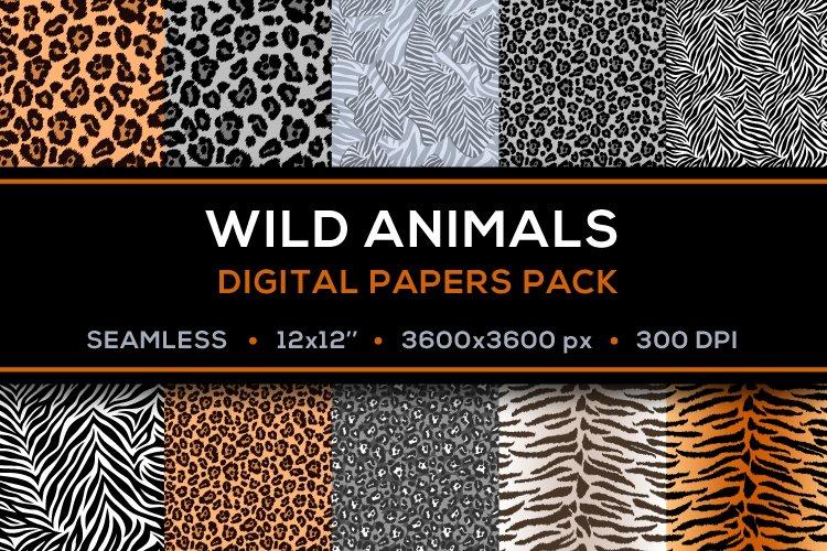 Safari Digital Papers - Pack of 10 JPG 12x12