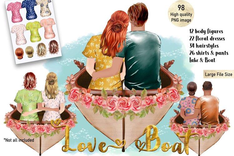 Customizable Valentine Couple Clipart, Best Friend Clipart
