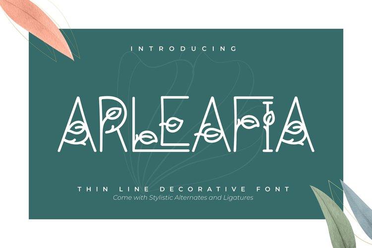 Arleafia | Decorative Font example image 1