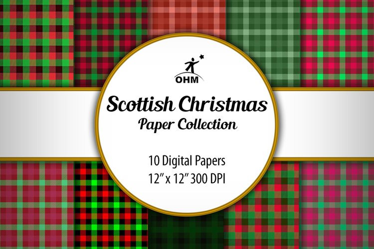 SCOTTISH CHRISTMAS PAPERS Collection, Printable Paper