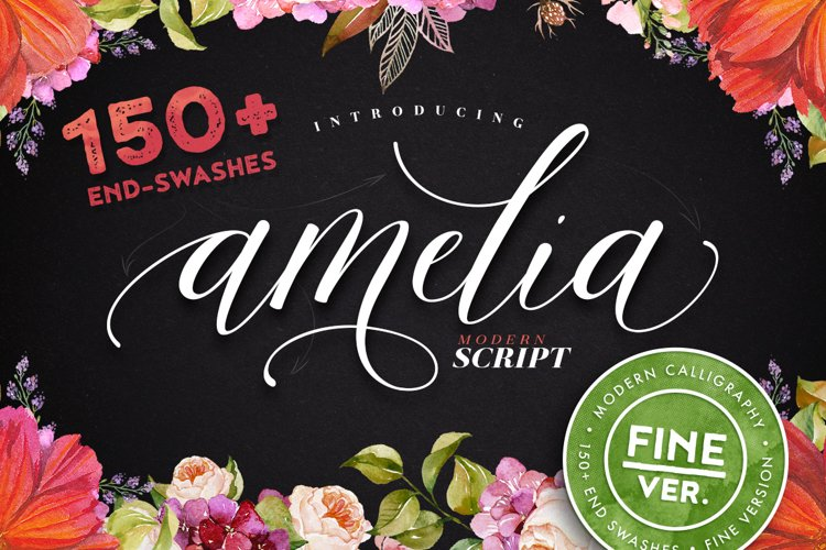 Amelia Script - Fine version example image 1