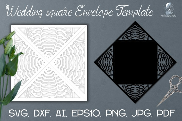 Cut Wedding Envelope Template / Invitation Template SVG