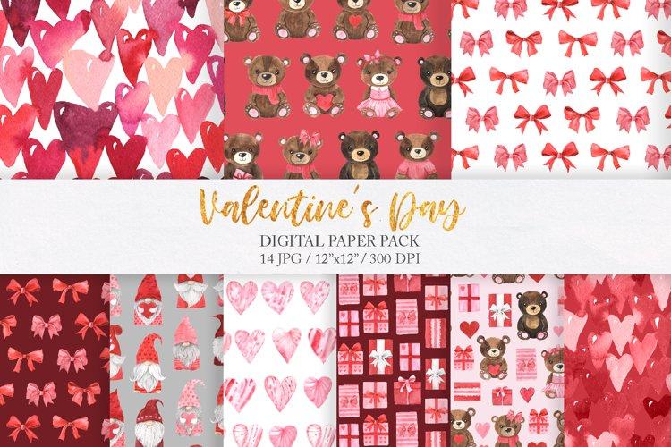 Valentine Day digital paper.
