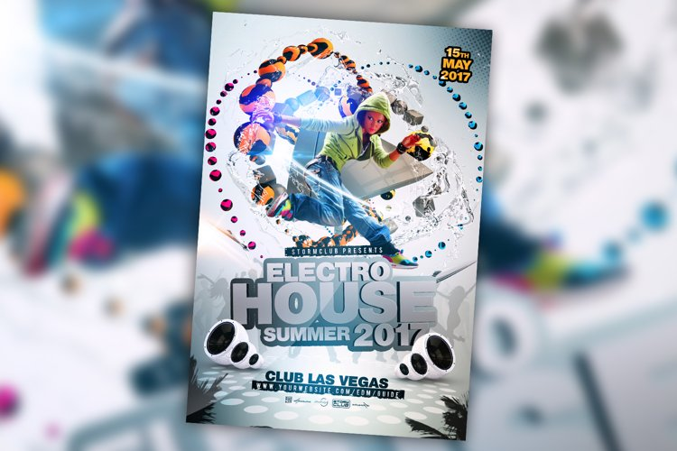 Summer House Party Flyer example image 1