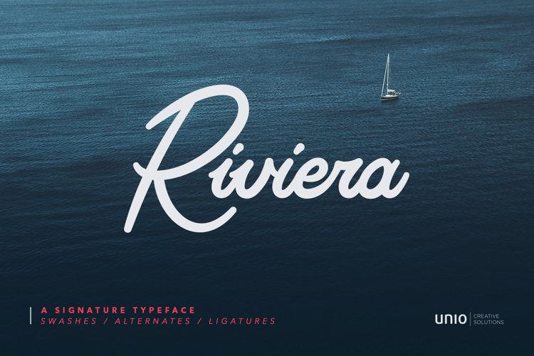Riviera - Signature Font example image 1