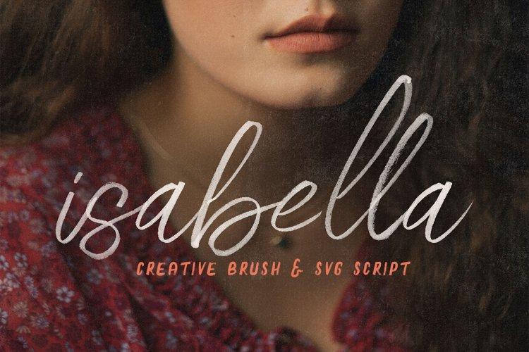 Isabella SVG Script Font example image 1