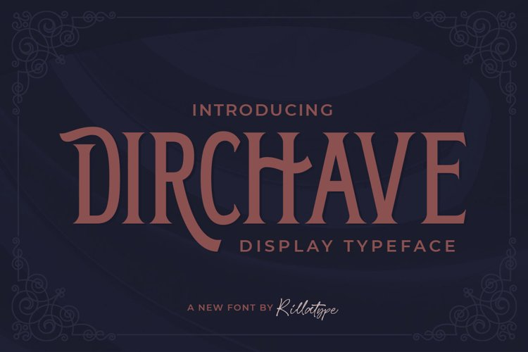 Dirchave - Display Typeface example image 1