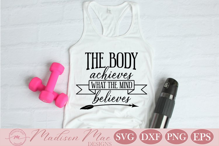 Fitness Motivation SVG, Inspirational Quote, Gym Quote example image 1