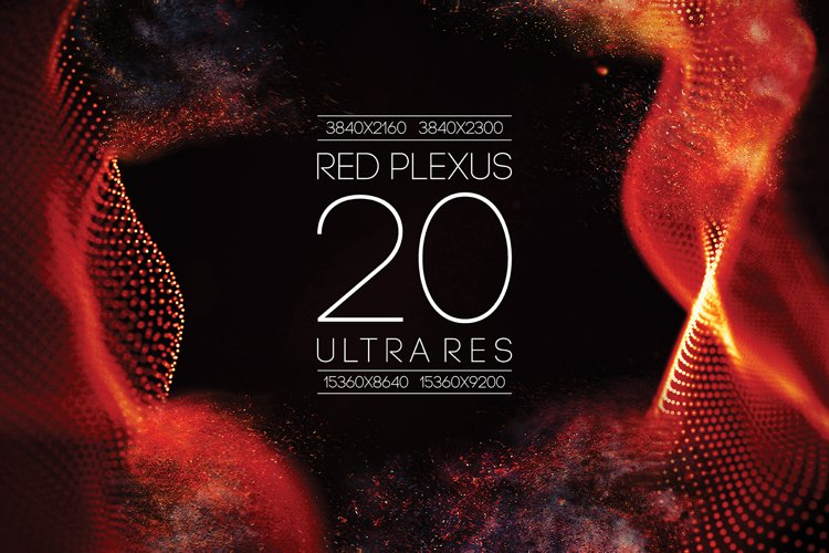 20 Red Abstract Particle Flow