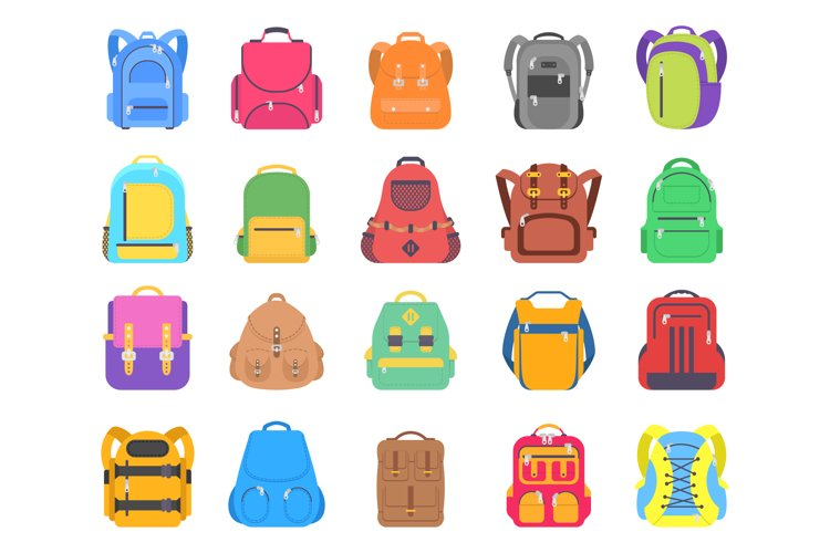 Set different bags and backpacks example image 1