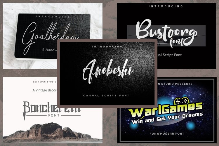 5 in 1 - font bundle vol 05 example image 1