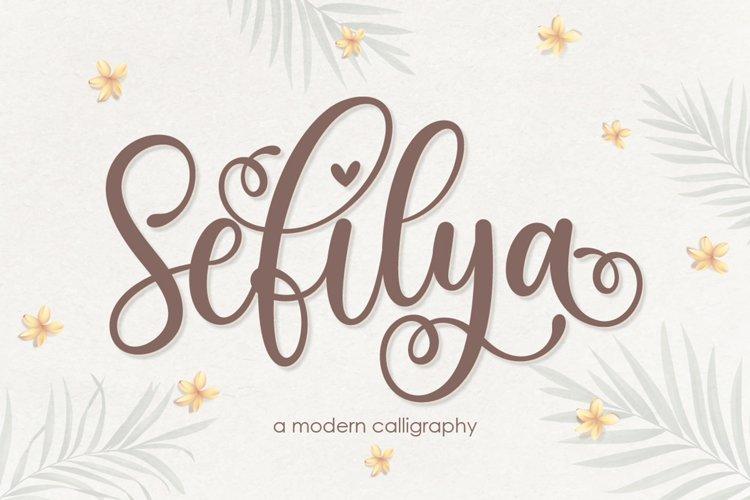 Sefilya | Beauty Script example image 1