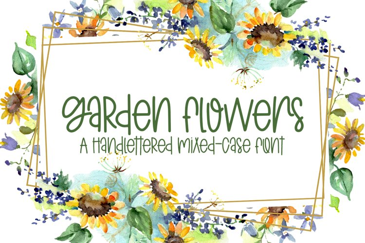 Garden Flowers - A Handlettered Mixed-Case Font example image 1