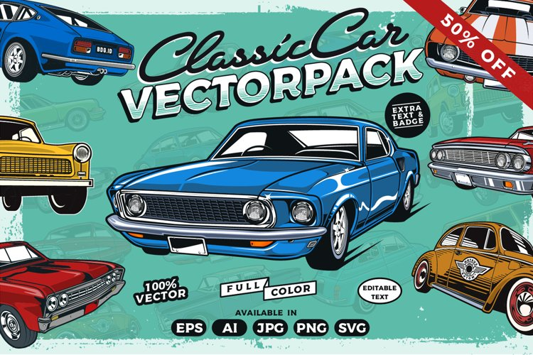 Classic Car Vector Collection example image 1