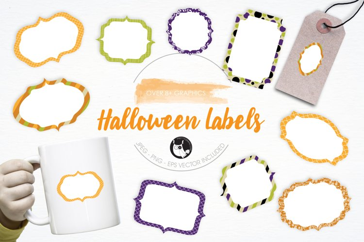 Halloween Labels graphics and illustrations example image 1