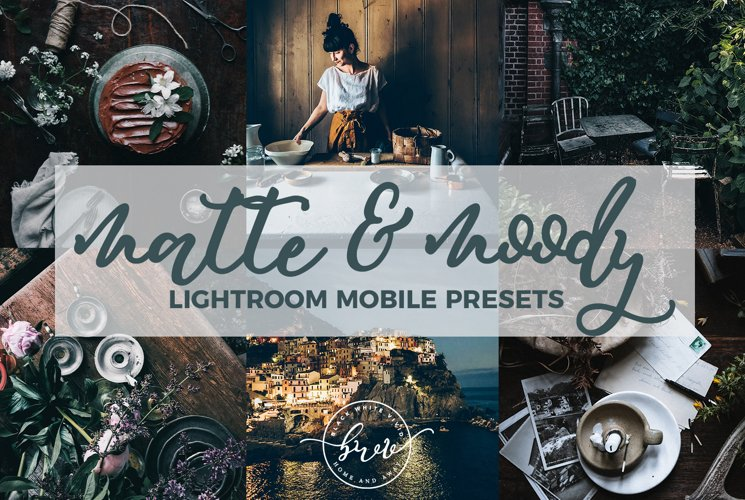 Matte & Moody Mobile Lightroom Presets example image 1
