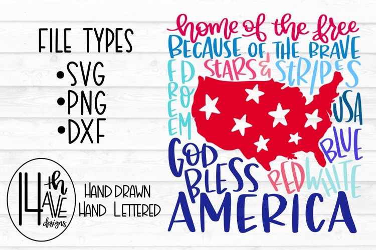 America Typography, America SVG, America PNG, Fourth of July