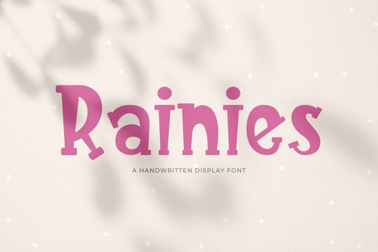 Rainies || A Handwritten Font example image 1