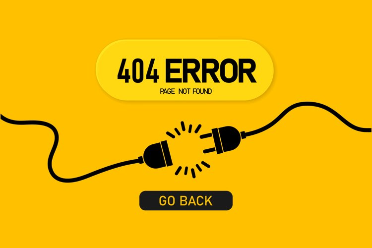 Not found page banner. Error 404. Template with electrical example image 1