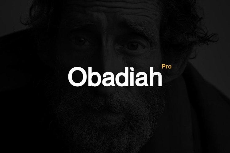Obadiah pro Modern Typeface WebFont example image 1