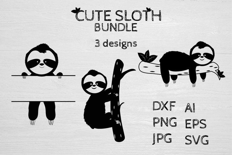 Cute Sloth SVG Bundle example image 1